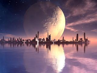 New Atlantis - Floating Futuristic Alien City