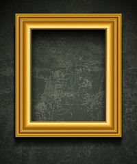 Picture Frame Wallpaper Background. Photo Frame on Grunge Wall