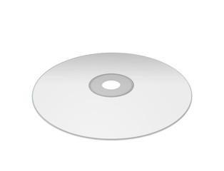 Blank White  DVD on white background.