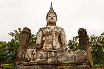 Buddha in sukothai Thailand