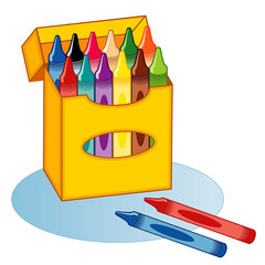 Big Box of Crayons for school, home, scrapbooks, diy projects