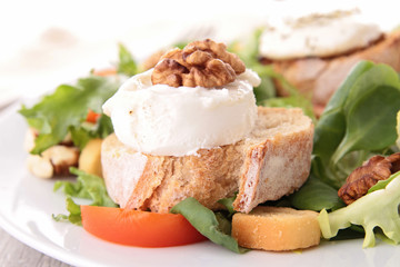 goat cheese salad and bread