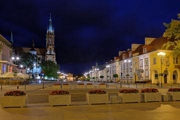 Obraz Miasto nocą w Białymstoku - fototapety do salonu