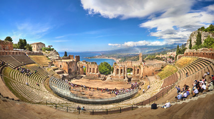 Griechisches Theater in Taormina, Sizilien