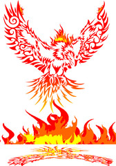 Mythical phoenix bird