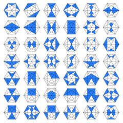 Sechseck mit verschieden Formen
