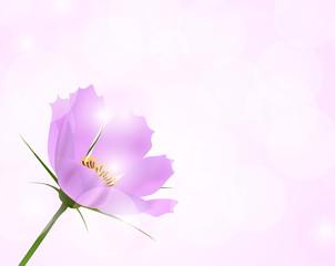 Realistick pink flower
