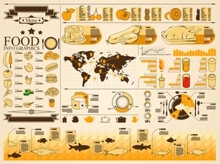 food info graphics,vector elements,outlines