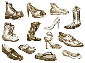 shoes of dreams - hand drawings converted into vector