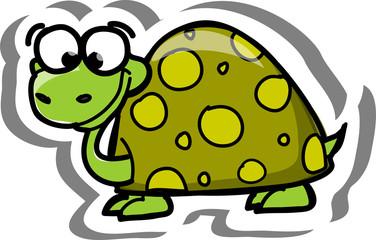 Черепаха мультфильм вектор