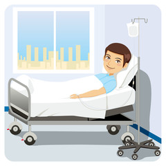 Patient at Hospital Bed