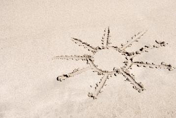 sun on the sand