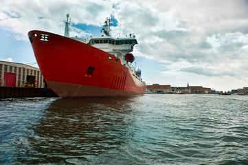 Cargo ship at the pier