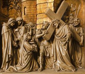 Wall Mural - Brussels - Jesus meets the women of Jerusalem
