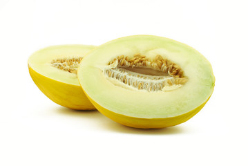Two halves of melon