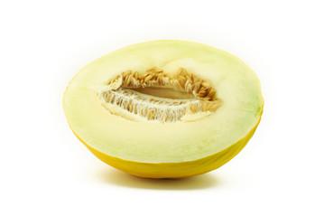 Half of yellow melon