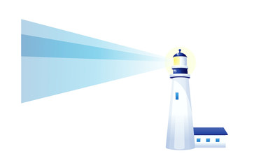 vector icon light house