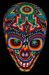 Beaded skull isolated on black