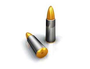 Bullets ammo metal war crime illustration