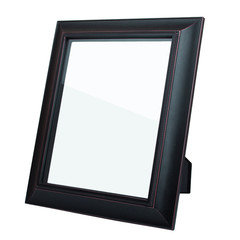 Blank dark picture frame isolated