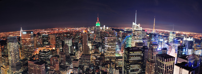 Fotomurales - New York City Manhattan skyline aerial panorama