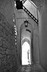 Ostuni the white city alley with vaults