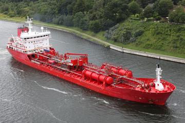 Tankschiff auf dem Nord Ostsee Kanal