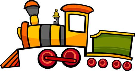 cartoon train or locomotive