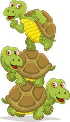 funny Turtle Teamwork