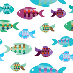 seamless pattern of fish