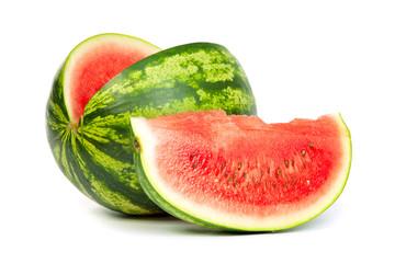 Fresh, ripe, juicy watermelon. Shot on White