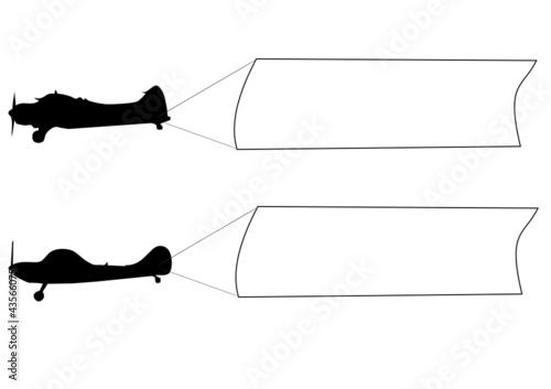 Banderoles deux avions photo libre de droits sur la - Dessin banderole ...