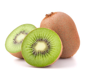 Foto auf Acrylglas Fruchte Whole kiwi fruit and his segments