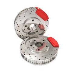Brake Discs isolated on white background