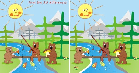 3 bears - find the 10 differences