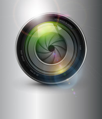 Photography background,  with camera photo lens
