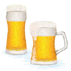 glasses of cold beer