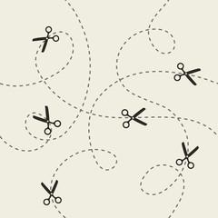 Scissors pattern. Vector illustration