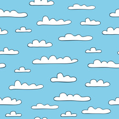 Printed roller blinds Heaven Seamless cloudy background. Vector illustration