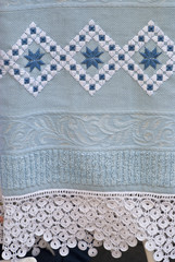 towel with crochet lace