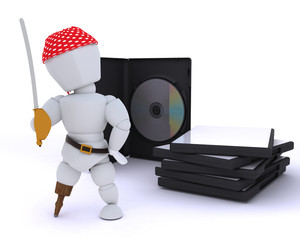 Pirate with DVD software