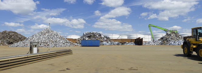 metal recycling factory