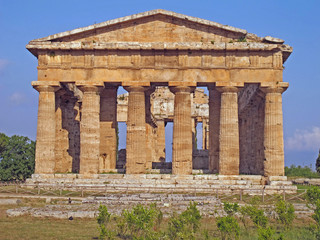 splendid ancient Greek columns of the temple very well preserved