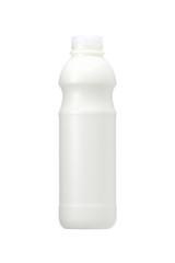milk bottle on white background, Realistic photo image