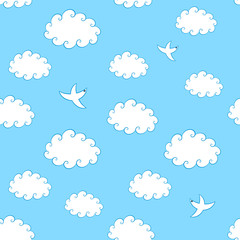 Printed roller blinds Heaven Sky Seamless Pattern