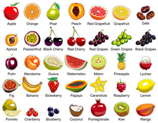 35 Fruits icons