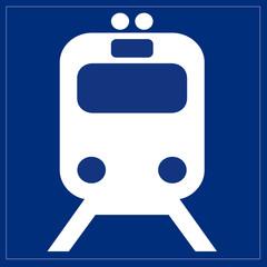 Papier Peint - Schild - Bahnservice