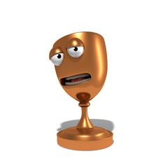 Coupe en bronze mascotte