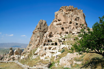 amazing view of Uchisar castle in Cappadocia