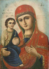 Icon of divine mother with Jesus